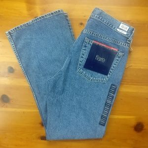 Vintage Gap Antiqued Flared Cotton Jeans NEW!